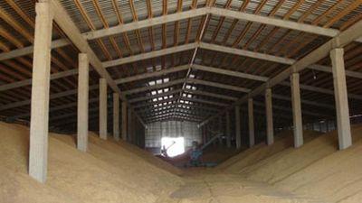 Перемещение зерна внутри элеватора стрела конвейера